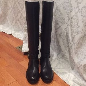 Coach Monique Black Leather Boots